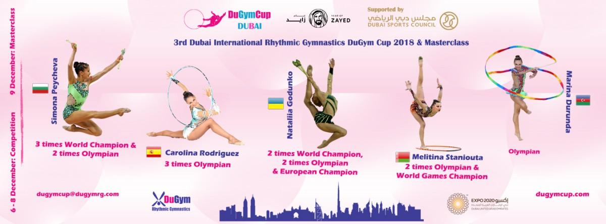 3rd Dubai International Rhythmic Gymnastics DuGym Cup, 06-08.12.2018, Dubai, UAE + Masterclass 09.12.2018