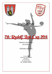 7th Int. Rudolf Lion Cup (25.10.2014, Hof/Germany)